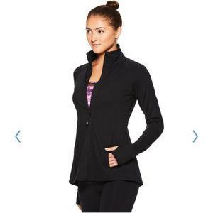Gaiam yoga energy jacket in black
